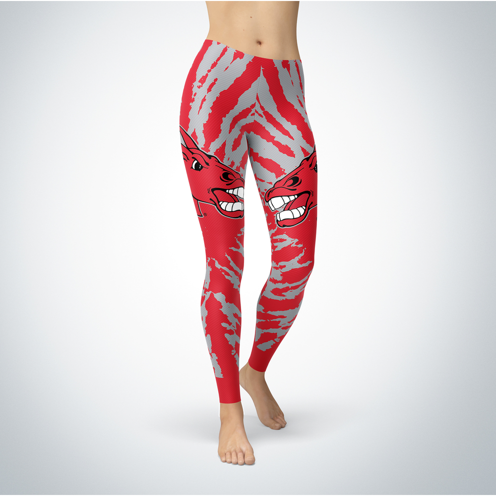 Tie Dye Design - Central Missouri Mules Leggings Front picture