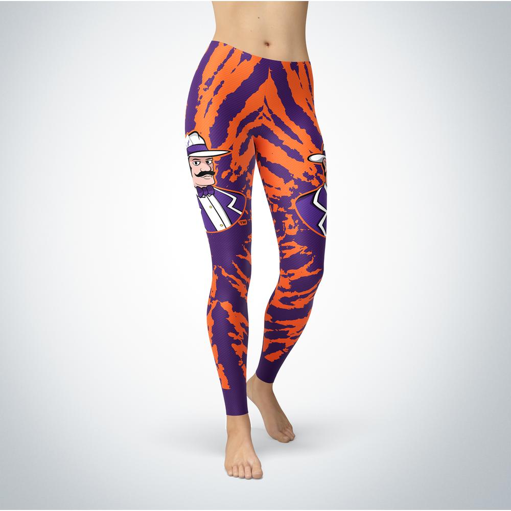 Tie Dye Design - Evansville Purple Aces Leggings Front picture
