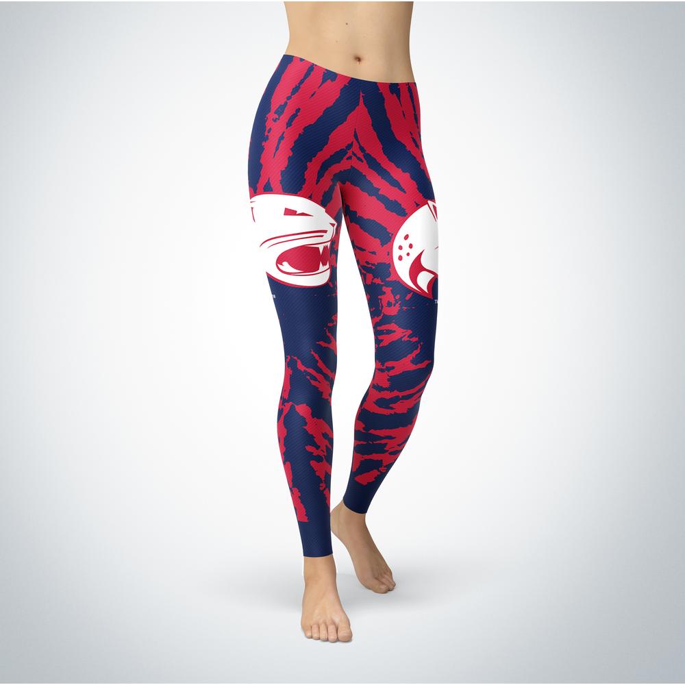 Tie Dye Design - South Alabama Jaguars Leggings Front picture