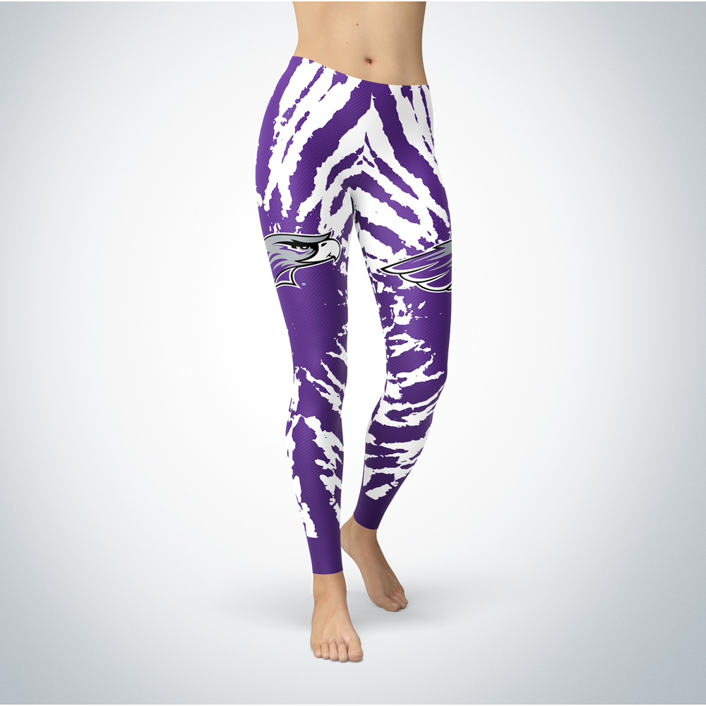Tie Dye Design - University of Wisconsin-Whitewater Leggings Front picture