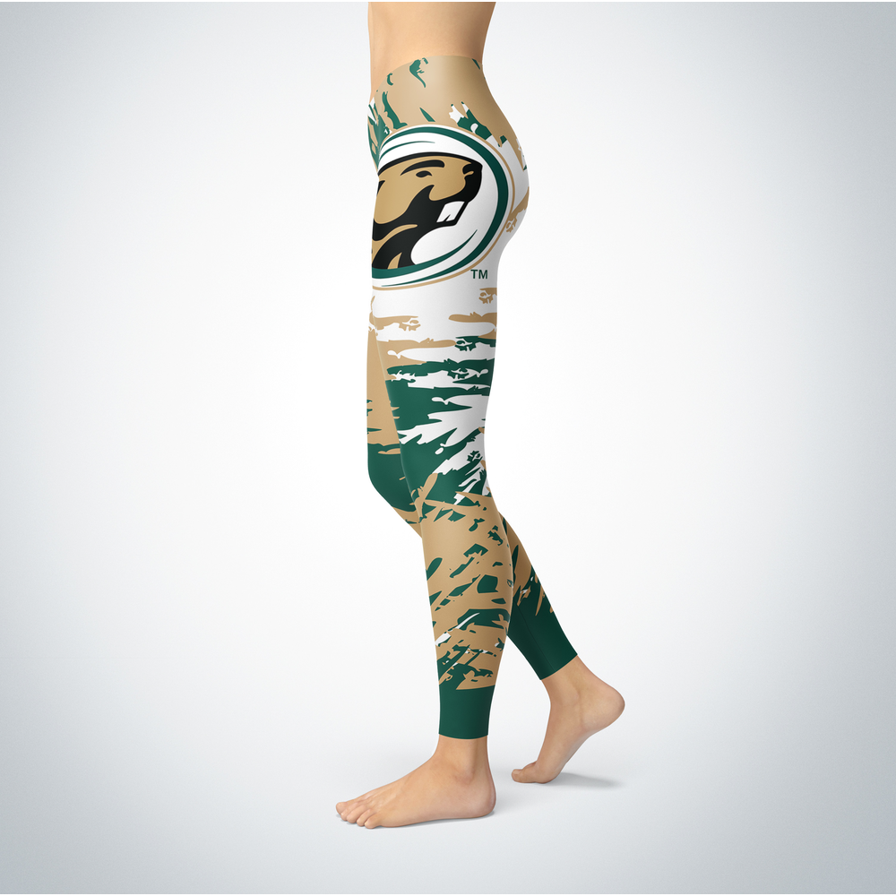 Watercolor Design - Bemidji State Beavers Leggings Back picture