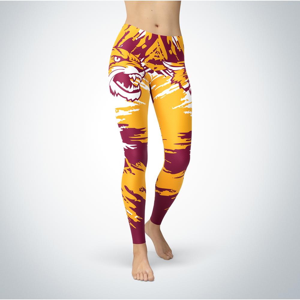 Watercolor Design - Bethune-Cookman Wildcats Leggings Front picture