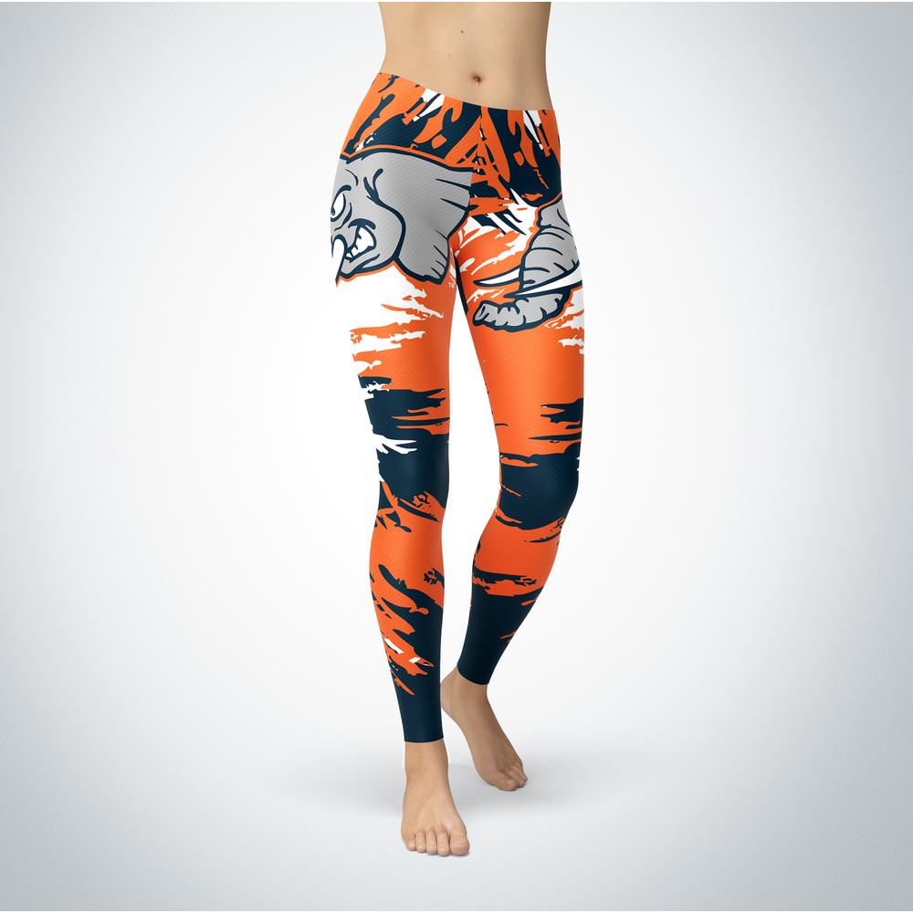 Watercolor Design - Cal State Fullerton Titans Leggings Front picture