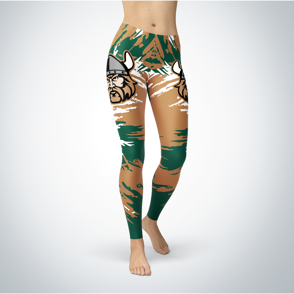 Watercolor Design - Cleveland State Vikings Leggings Front picture