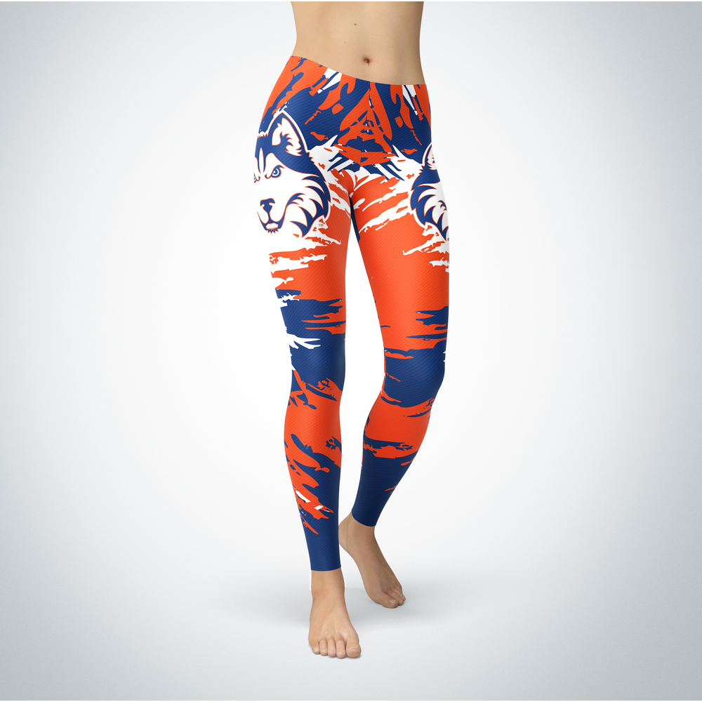 Watercolor Design - Houston Cougars Leggings Front picture