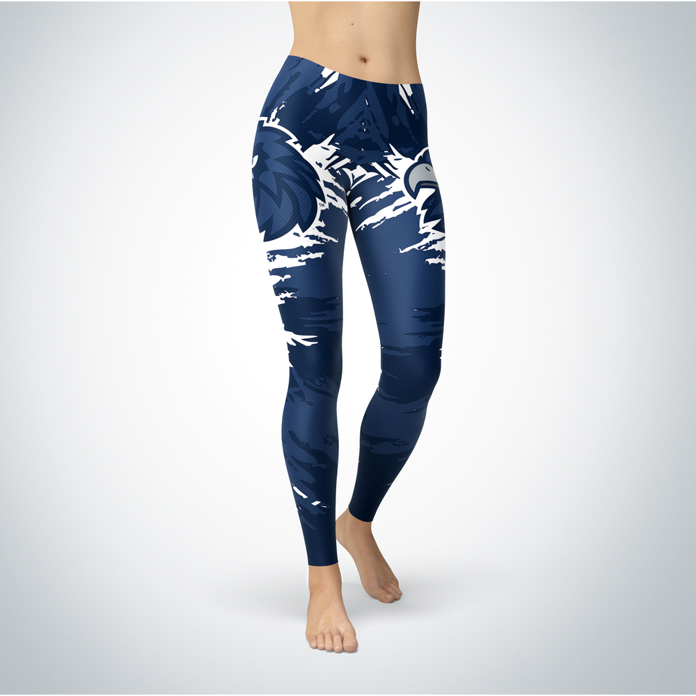Watercolor Design - Monmouth Hawks Leggings Front picture