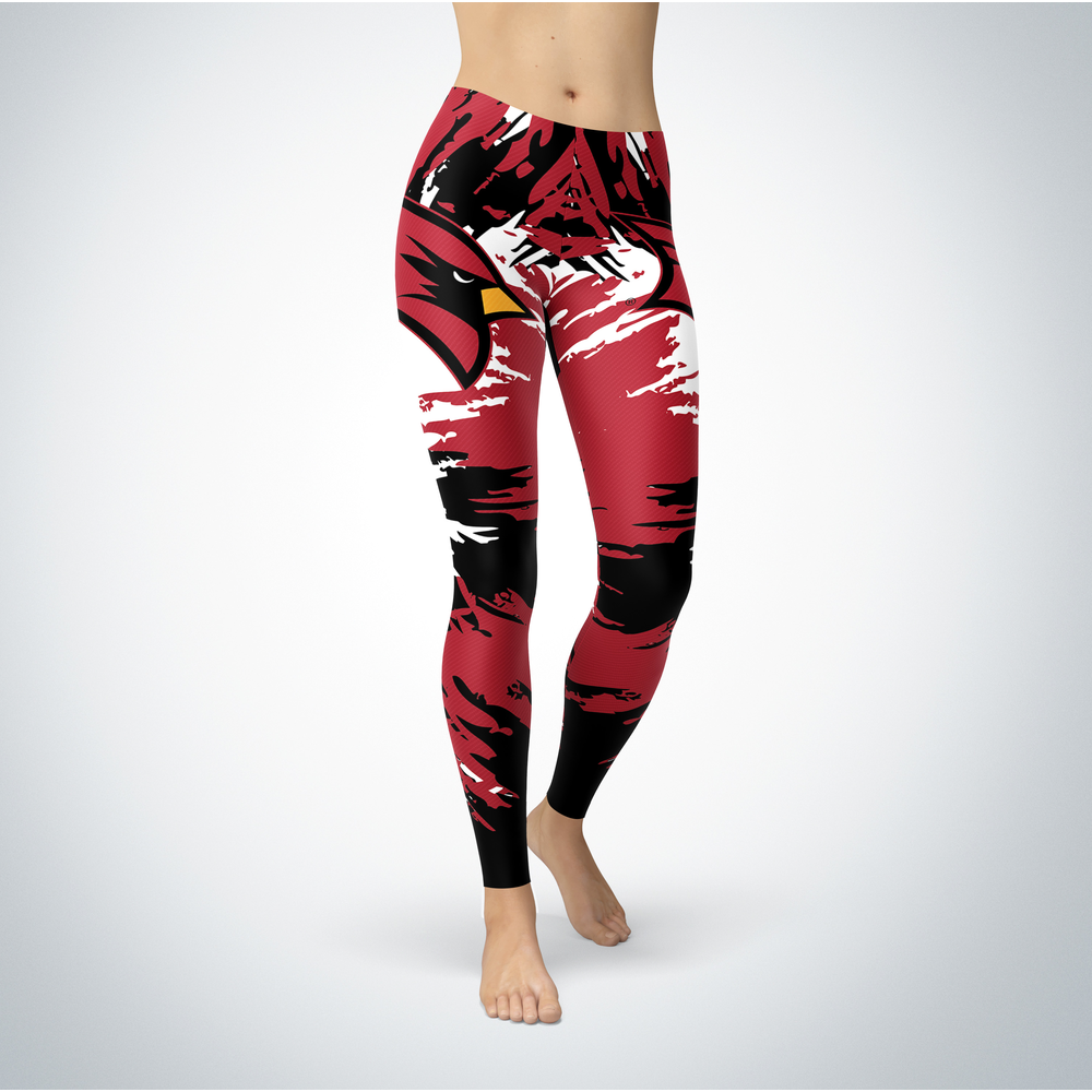 Watercolor Design - Saginaw Valley State Cardinals Leggings Front picture