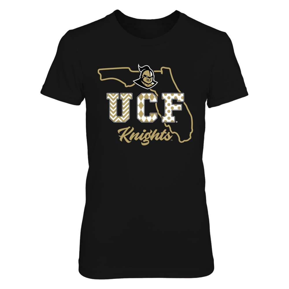 UCF Knights - Patterned Letters - State Outline Front picture