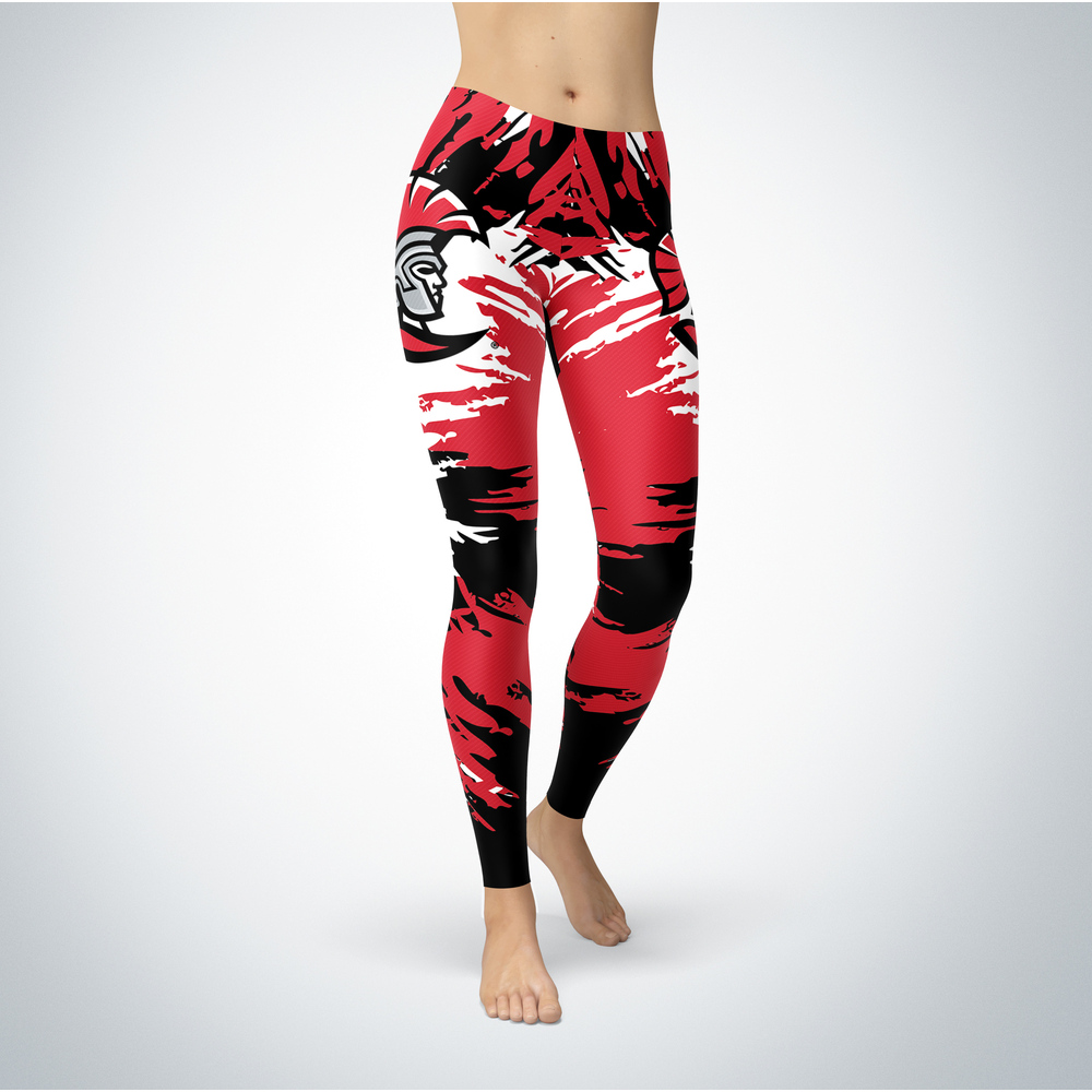 Watercolor Design - University of Tampa Leggings Front picture