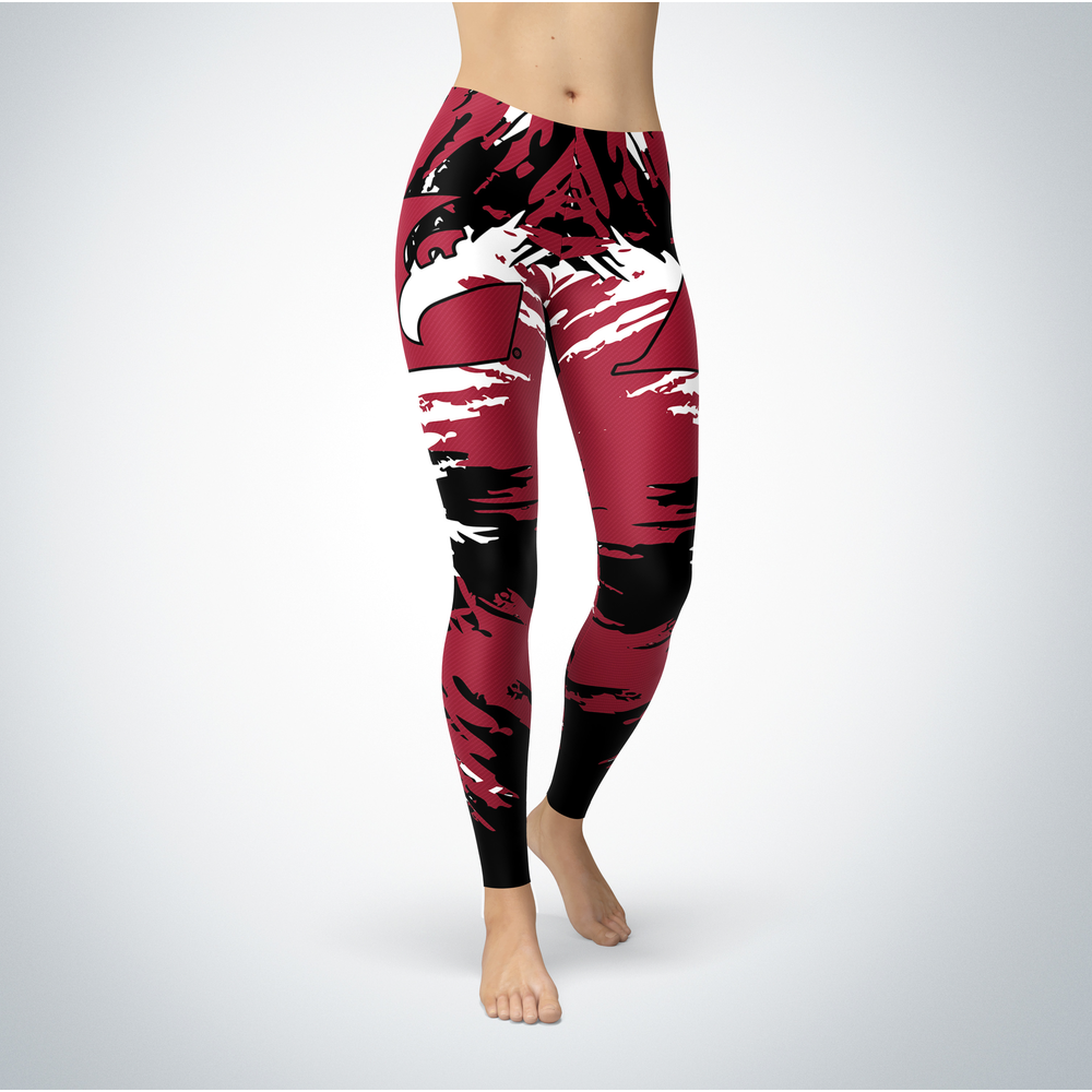 Watercolor Design - University of Wisconsin-La Crosse Leggings Front picture