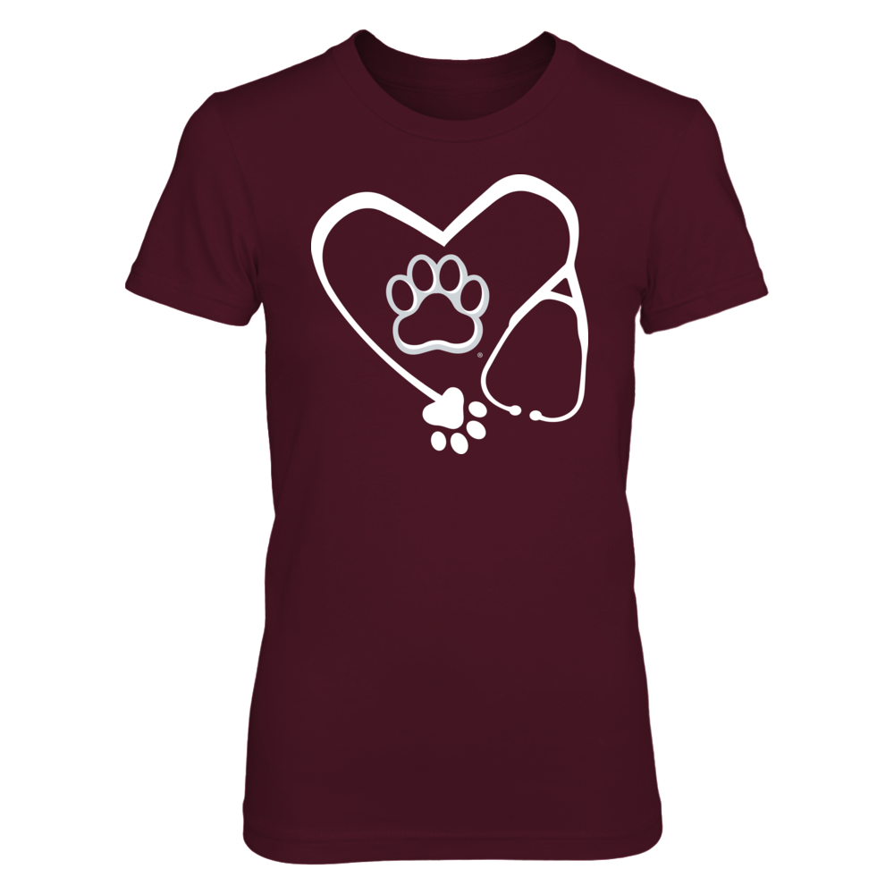 Mississippi State Bulldogs - Stethoscope Paw Front picture