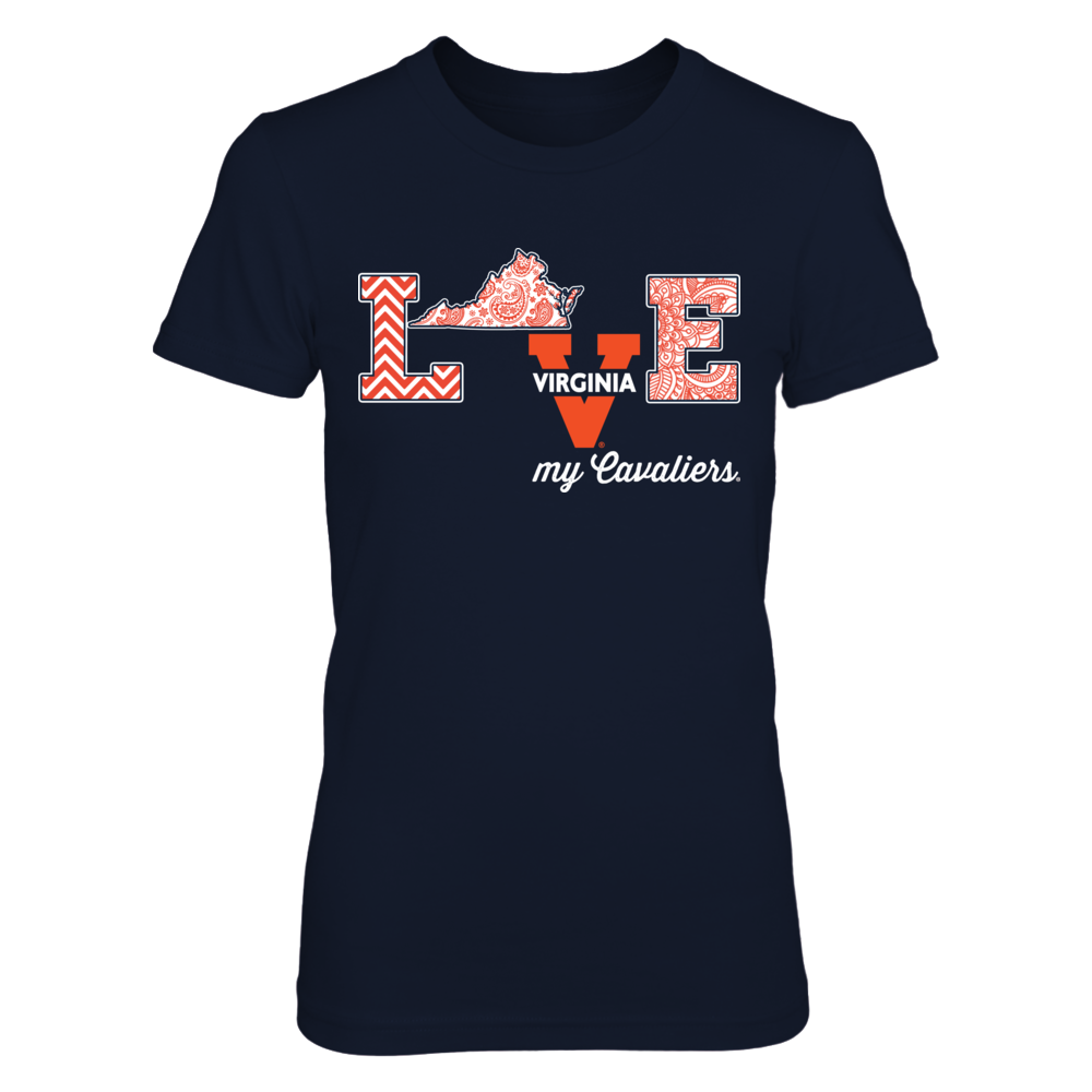 Virginia Cavaliers - Love My Team - Paisley State Front picture