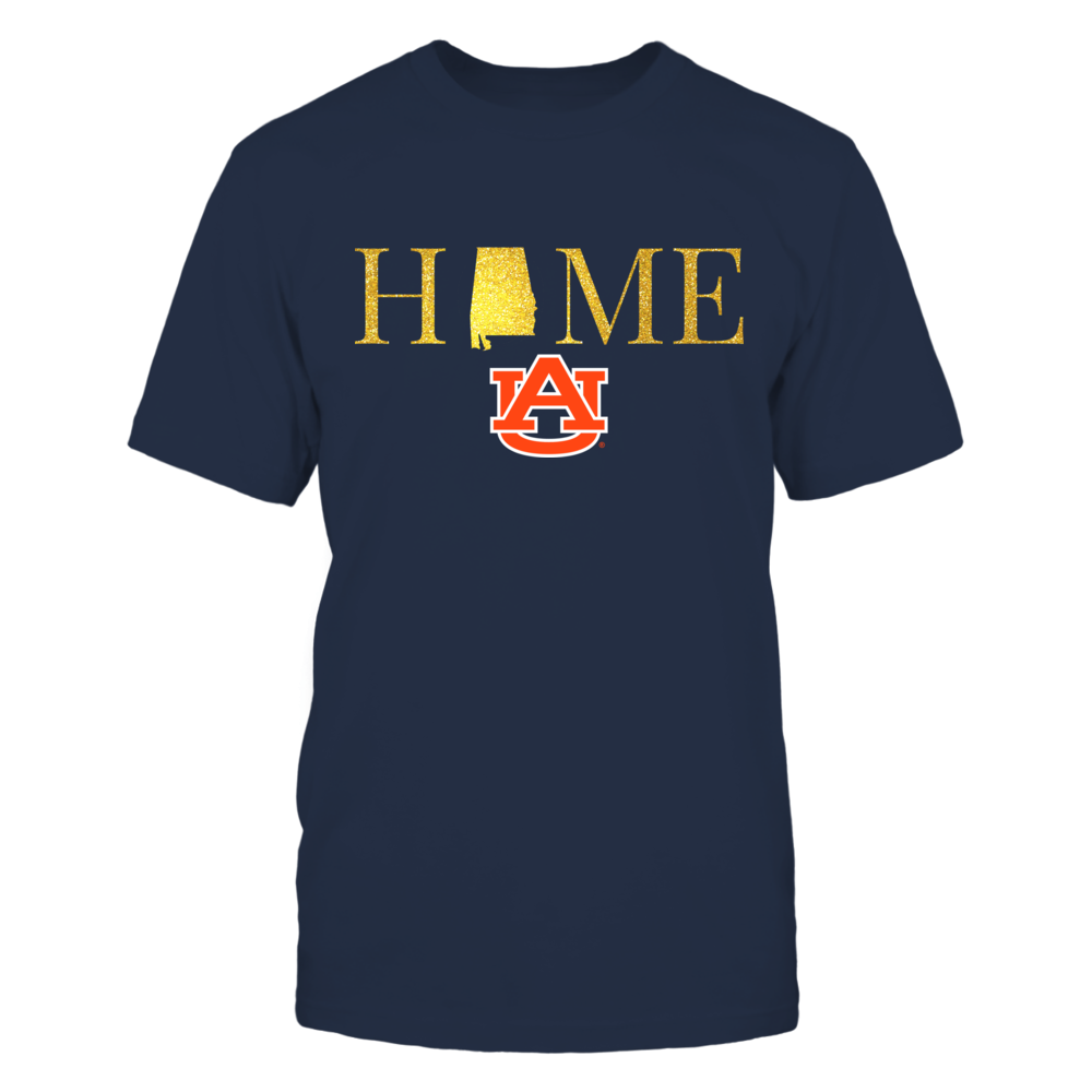 Alabama Home in Shiny Gold - Auburn Tigers Front picture