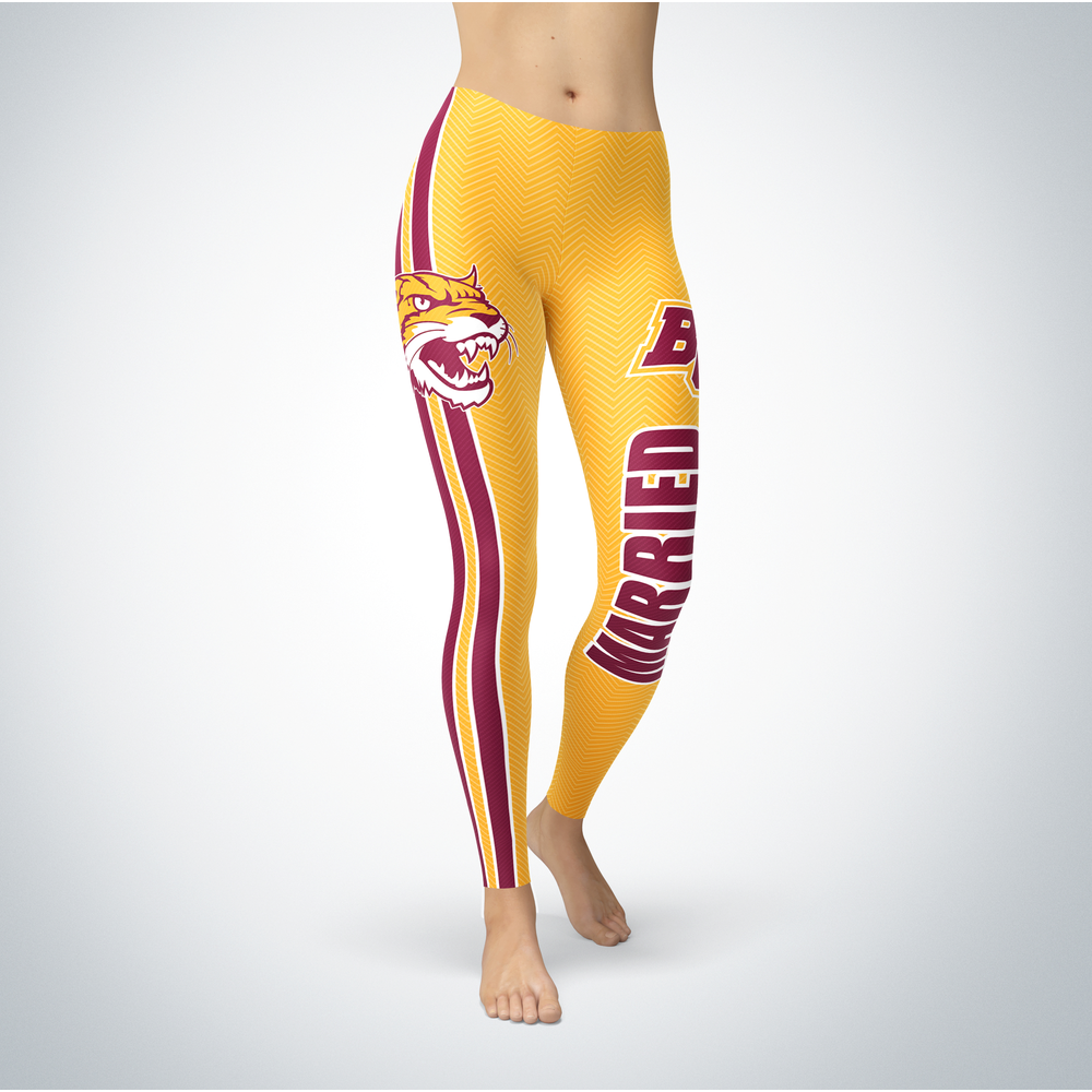 Married Design - Bethune-Cookman University Leggings Front picture