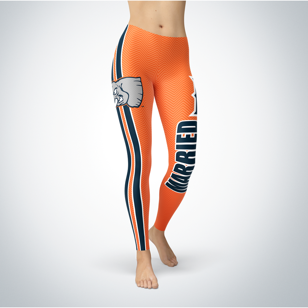 Married Design - Cal State Fullerton Leggings Front picture