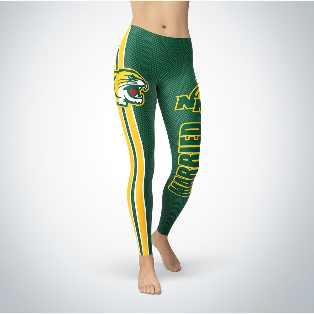 Married Design - Northern Michigan Wildcats Leggings Front picture