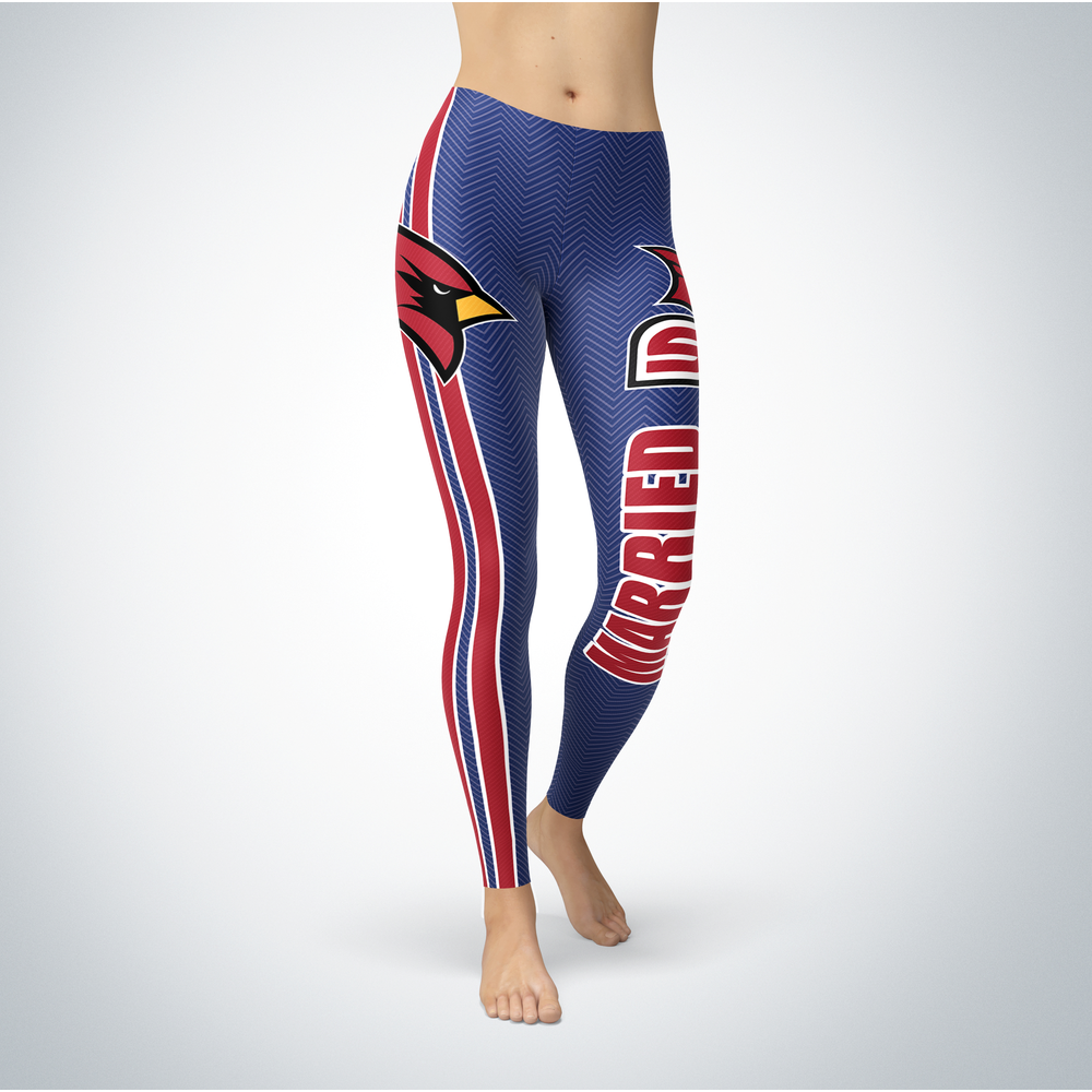 Married Design - Saginaw Valley State Cardinals Leggings Front picture