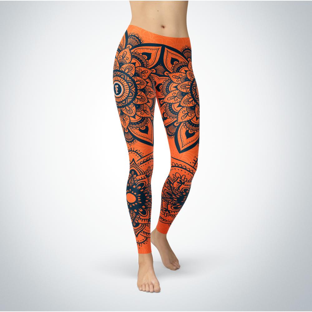 Mandala - Cal State Fullerton Titans Leggings Front picture