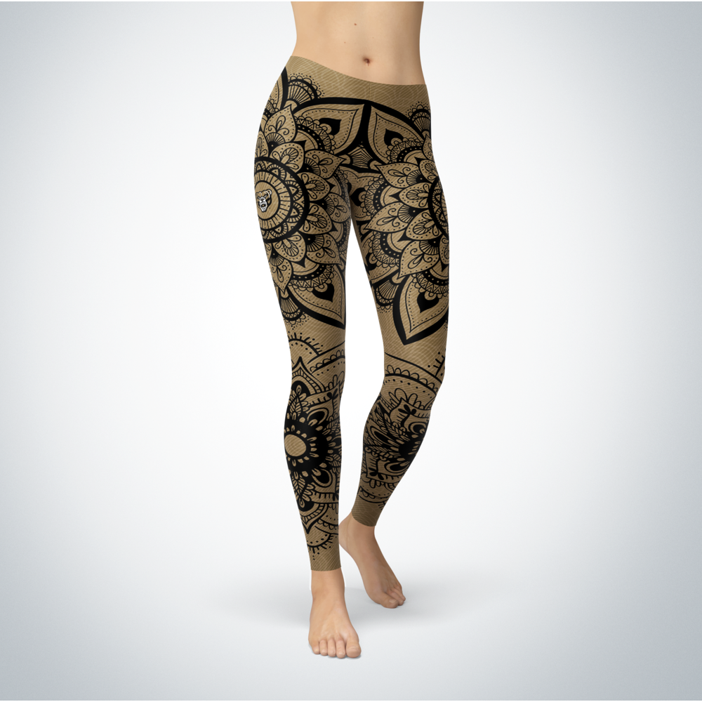Mandala - Oakland Golden Grizzlies Leggings Front picture