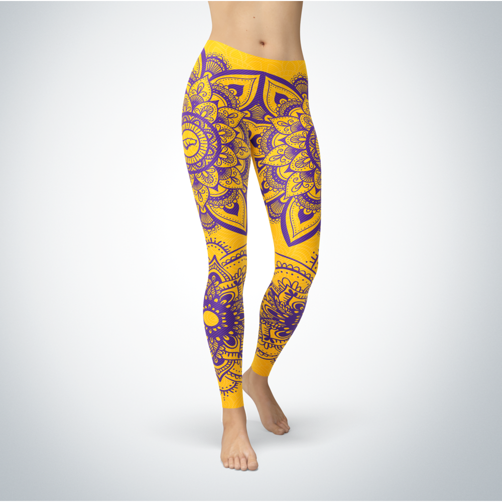Mandala - Wisconsin-Stevens Point Pointers Leggings Front picture