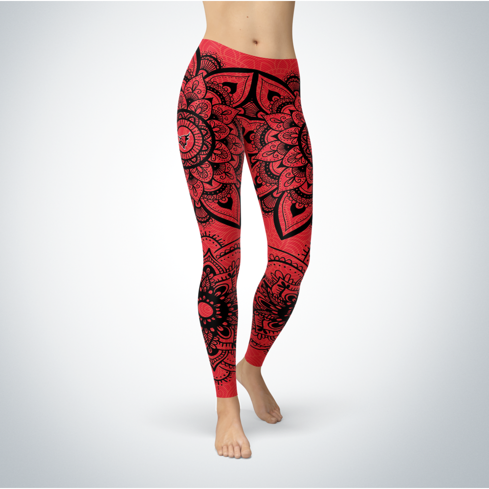 Mandala - Nebraska Omaha Mavericks Leggings Front picture