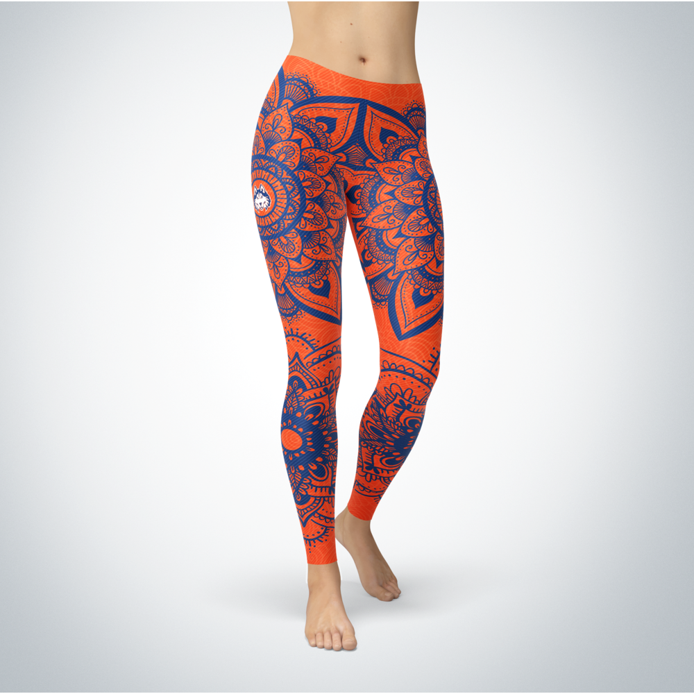 Mandala - Houston Baptist Huskies Leggings Front picture