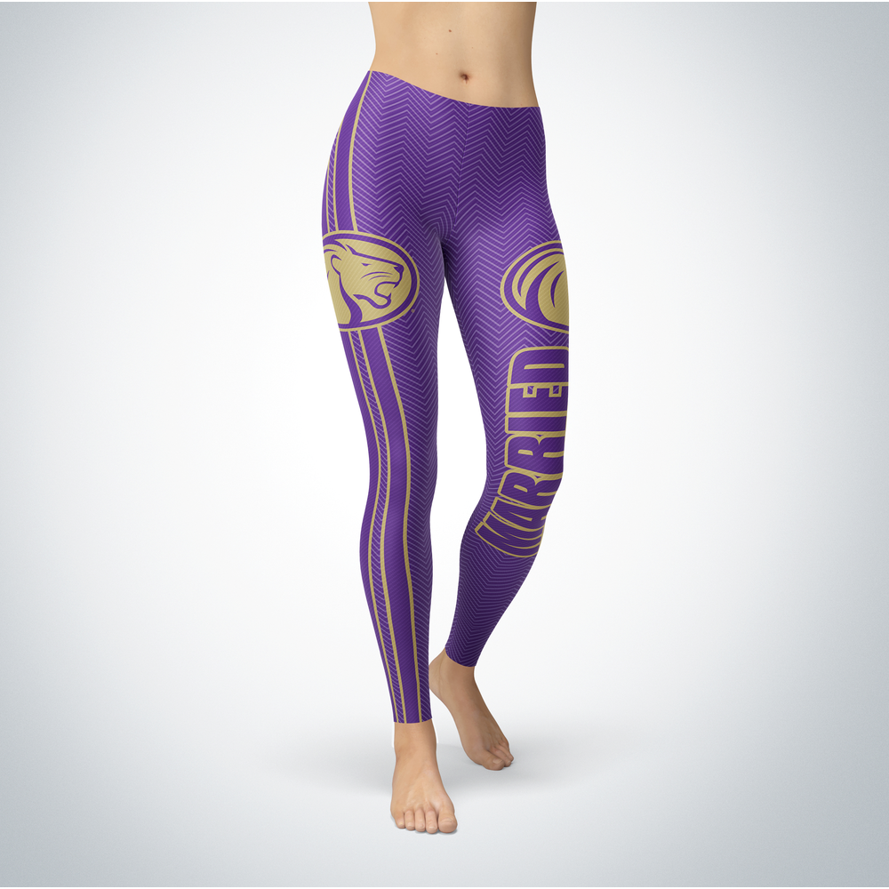 Married Design - North Alabama Lions Leggings Front picture