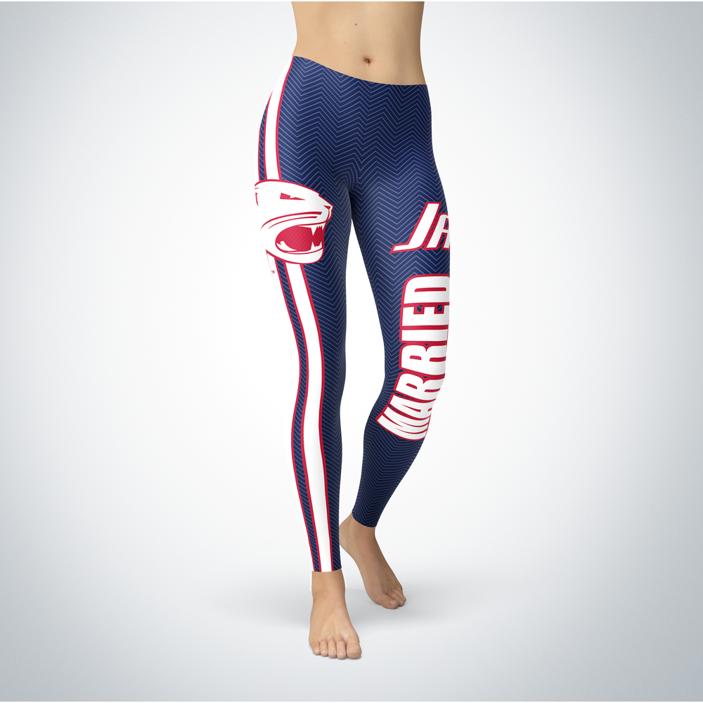 Married Design - South Alabama Jaguars Leggings Front picture