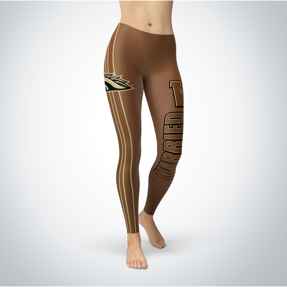 Married Design - Western Michigan Broncos Leggings Front picture