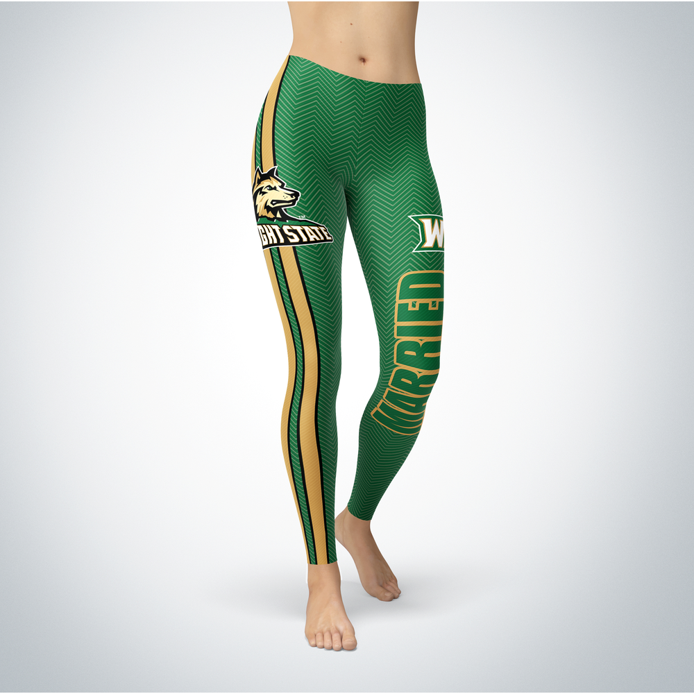 Married Design - Wright State Raiders Leggings Front picture