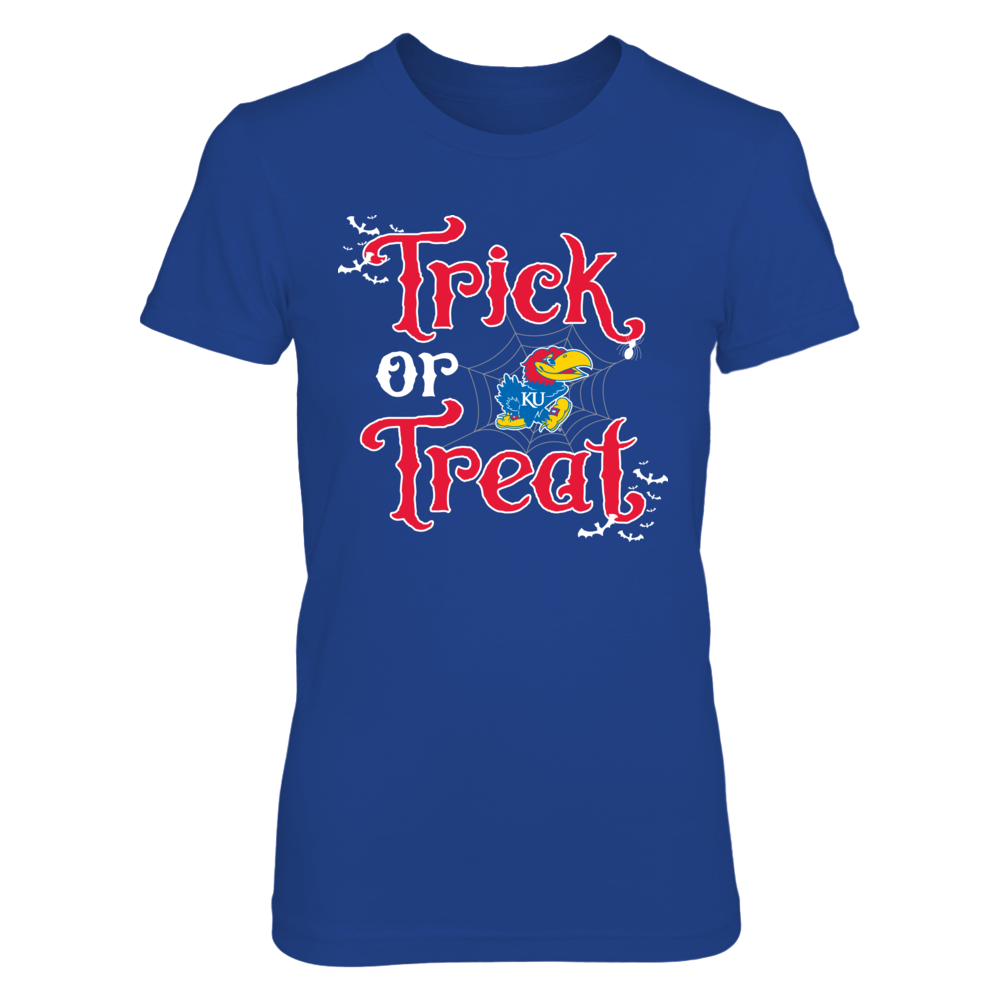 Halloween Trick or Treat Kansas Jayhawks T-Shirt | Tank Front picture