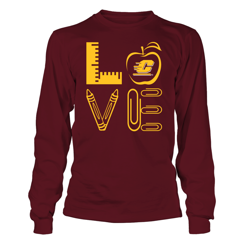 Central Michigan Chippewas - Stacked Love - Teacher Things - IF-IC13-DS33 Front picture