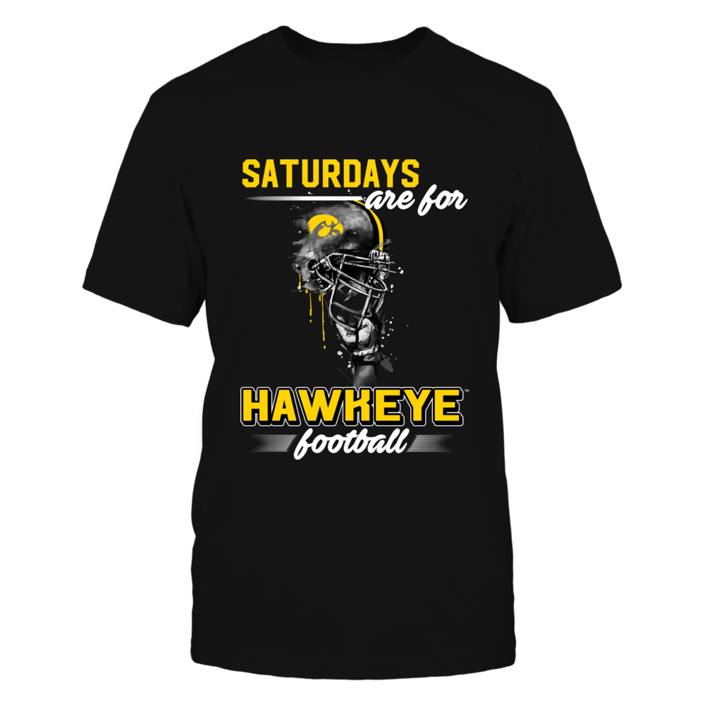 Iowa Hawkeyes - Saturdays Are For Football - Rising Helmet - Relaunch - IF-IC13-DS33 Front picture