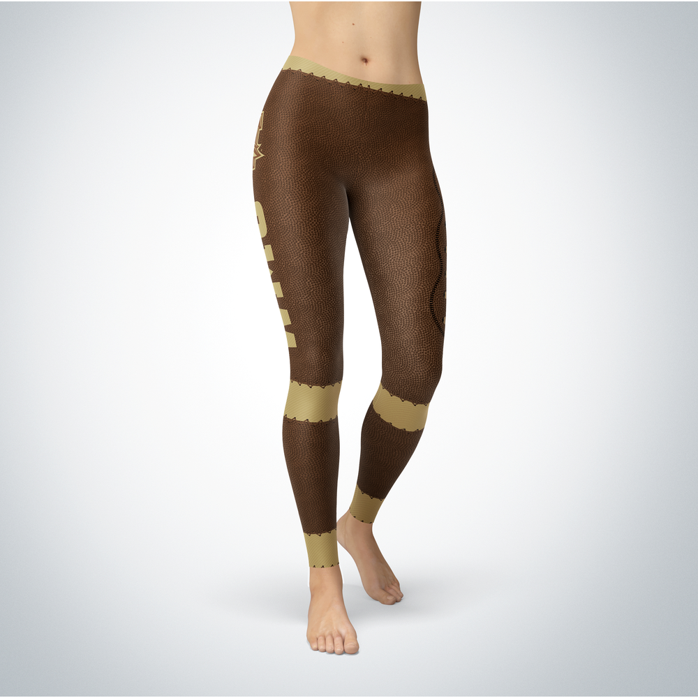 Football Western Michigan Broncos Leggings Front picture