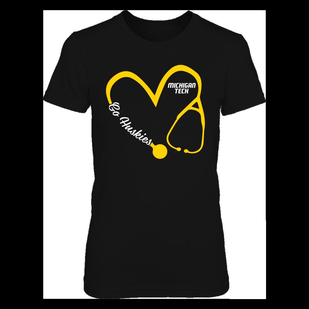 Michigan Tech Huskies - Heart 3/4 - Nurse Front picture