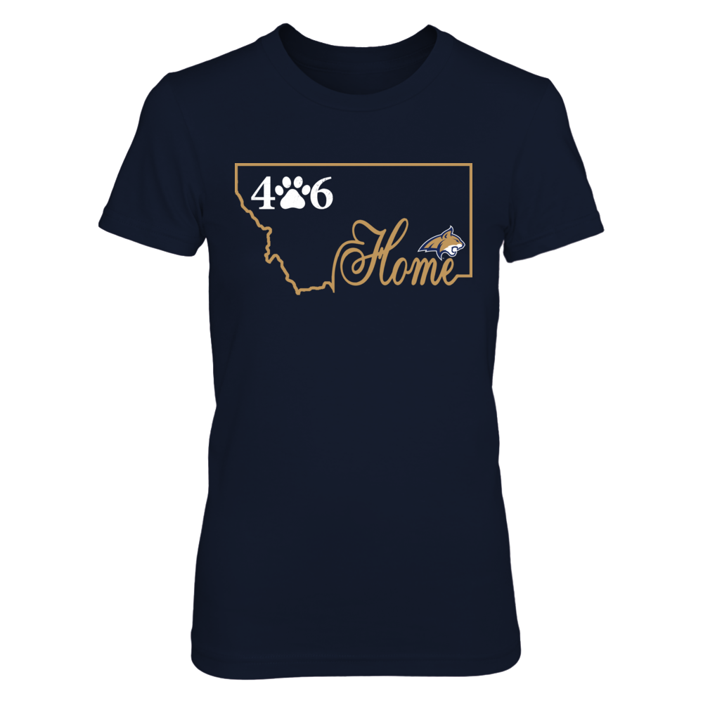 Montana State Bobcats - Home In State Outline - Area Code Paw Front picture