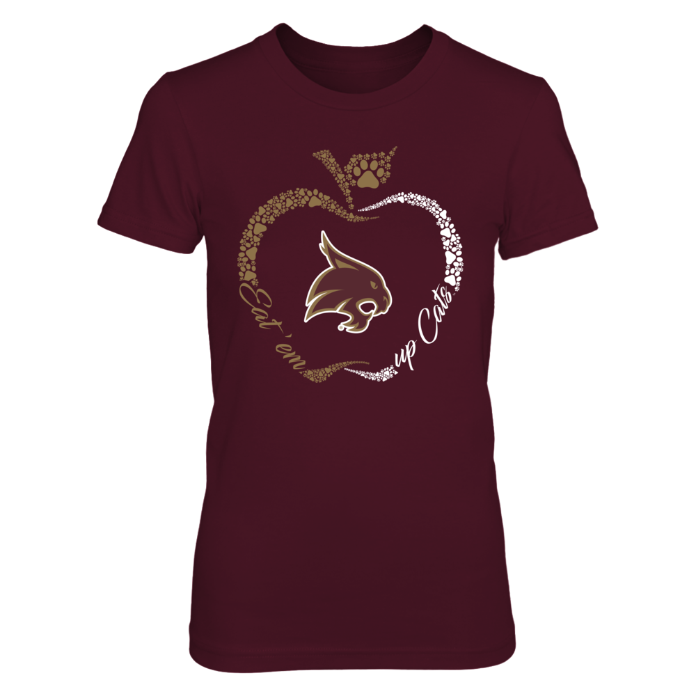 Texas State Bobcats - Apple Outline Slogan - Paw Front picture
