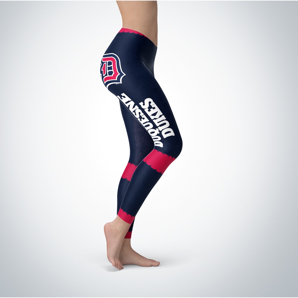 Football Design Duquesne Dukes Leggings Front picture