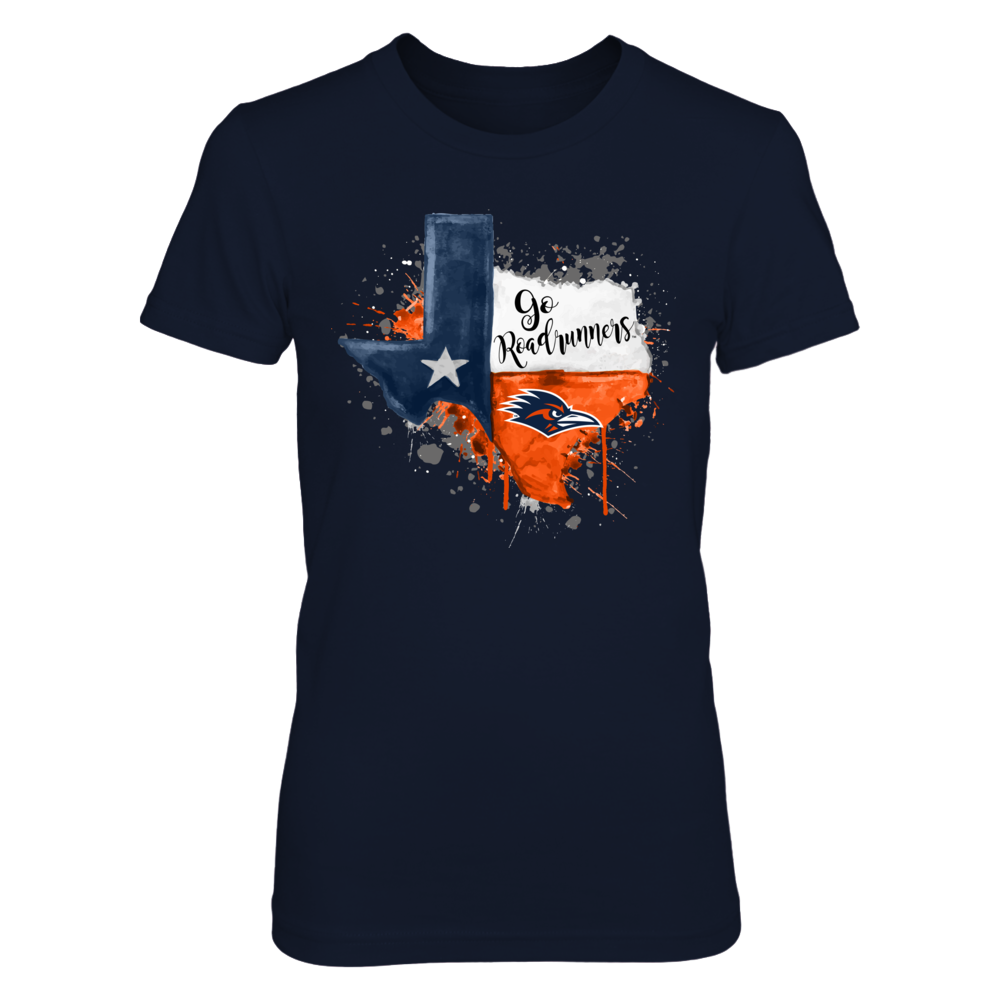UTSA Roadrunners - Color Drop State Map Front picture