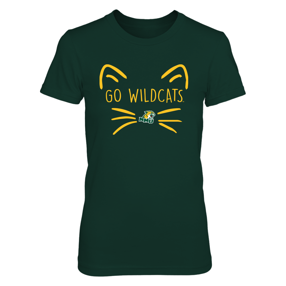 Northern Michigan Wildcats - Cat Face Team Front picture