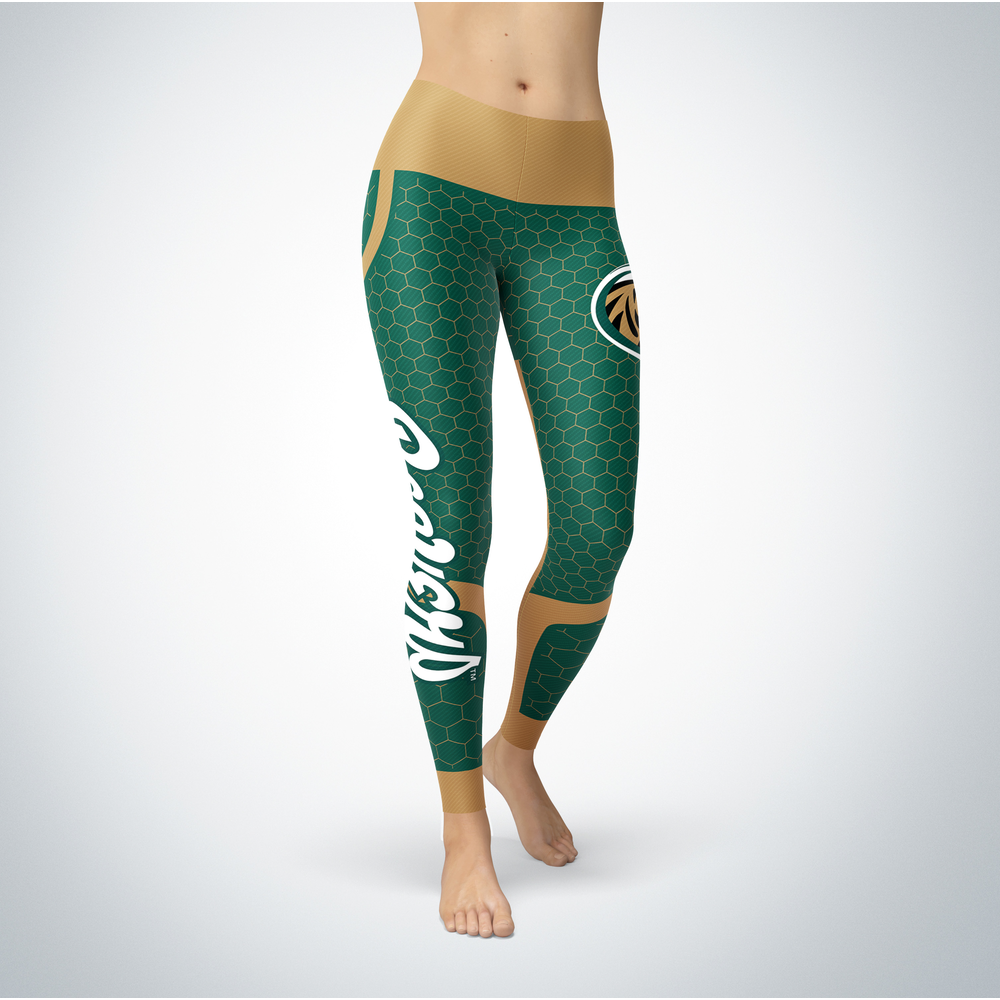 Sporty Design  Bemidji State Beavers Leggings Front picture