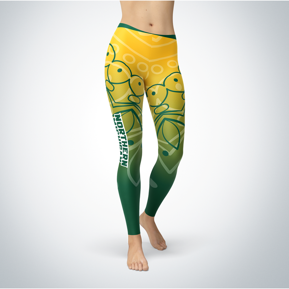 Mandala 2 Design Northern Michigan Wildcats Leggings Front picture