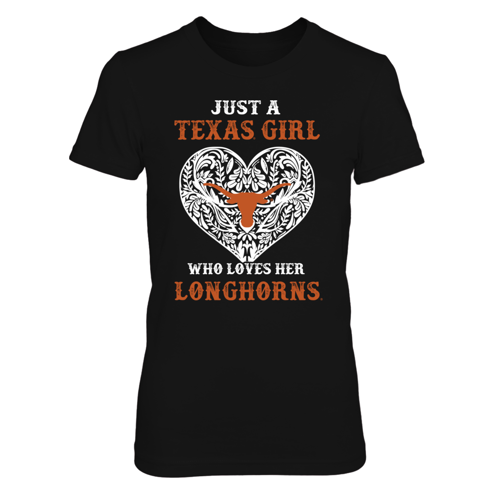 Texas Longhorns - Longhorn Pattern Heart Front picture