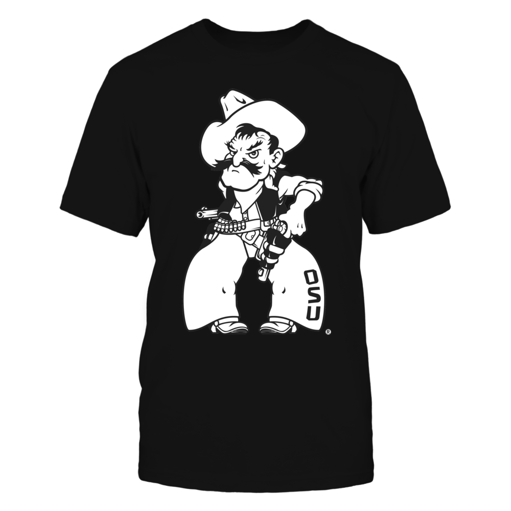 Officially Licensed Oklahoma State Merchandise -  Pistol Pete Fan Shirt Front picture