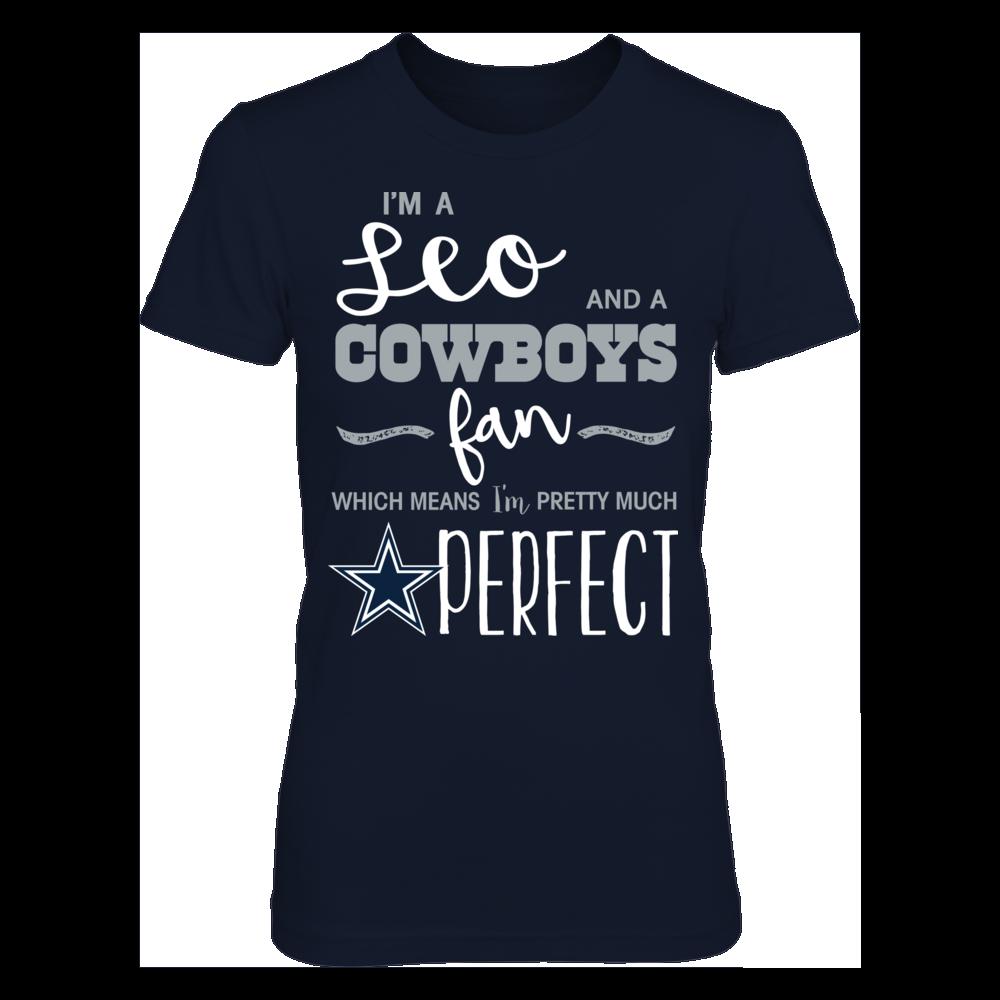 Perfect Leo Dallas Cowboys Fan T-Shirt | Tank Front picture