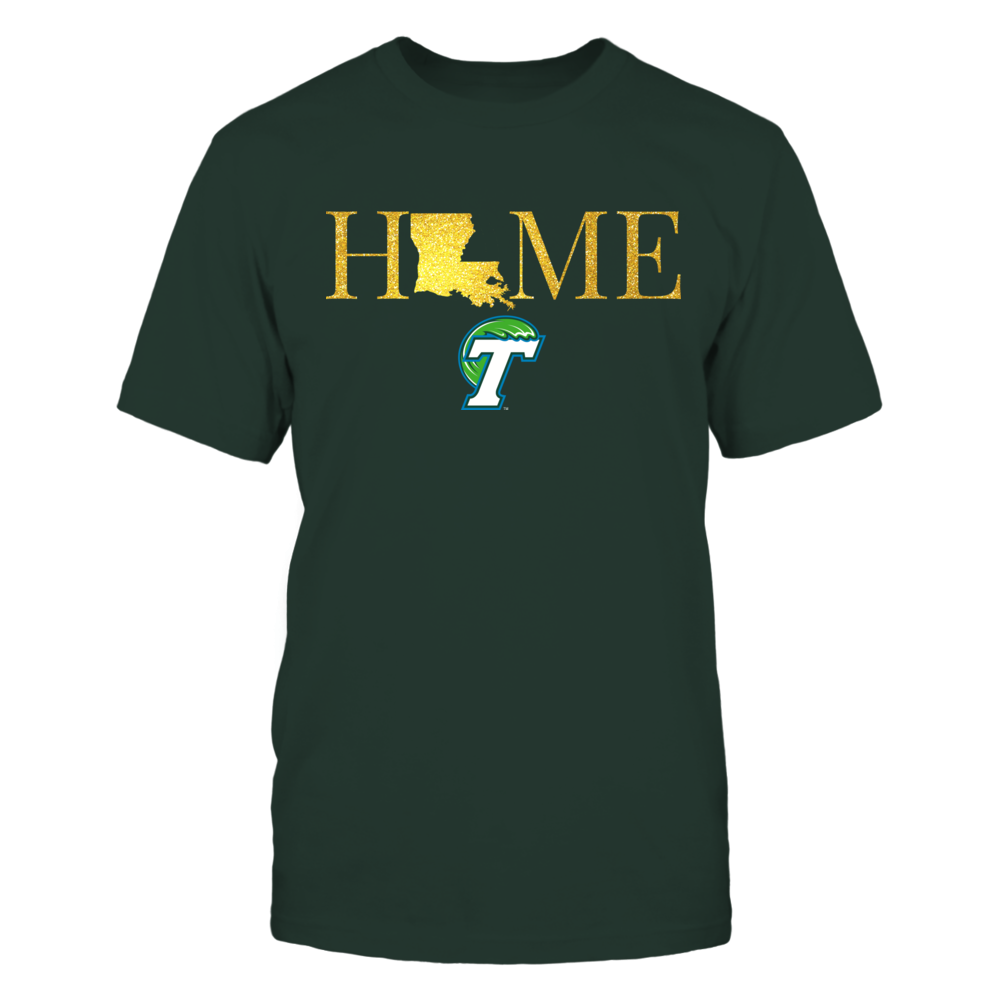 Louisiana Home in Glittering Gold - Tulane Green Wave Front picture