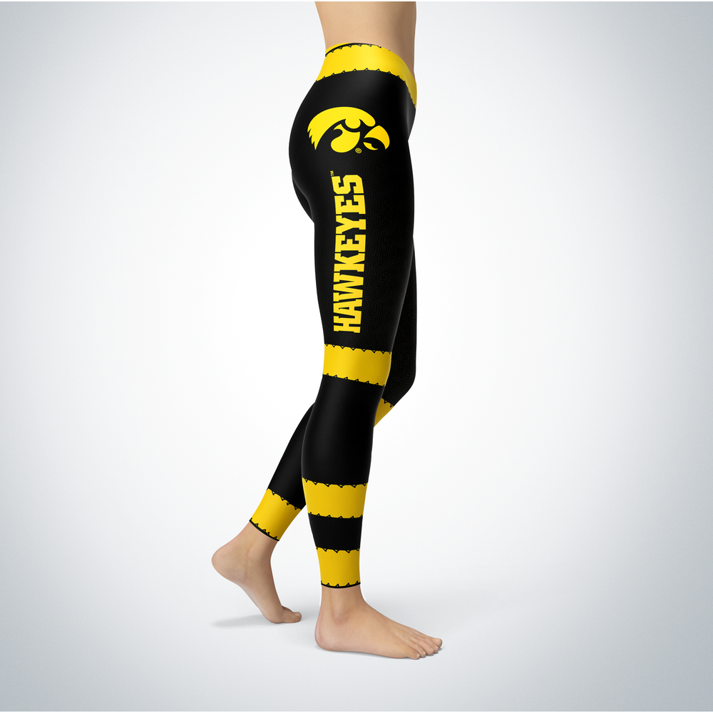 Football Design Iowa Hawkeyes Leggings Front picture