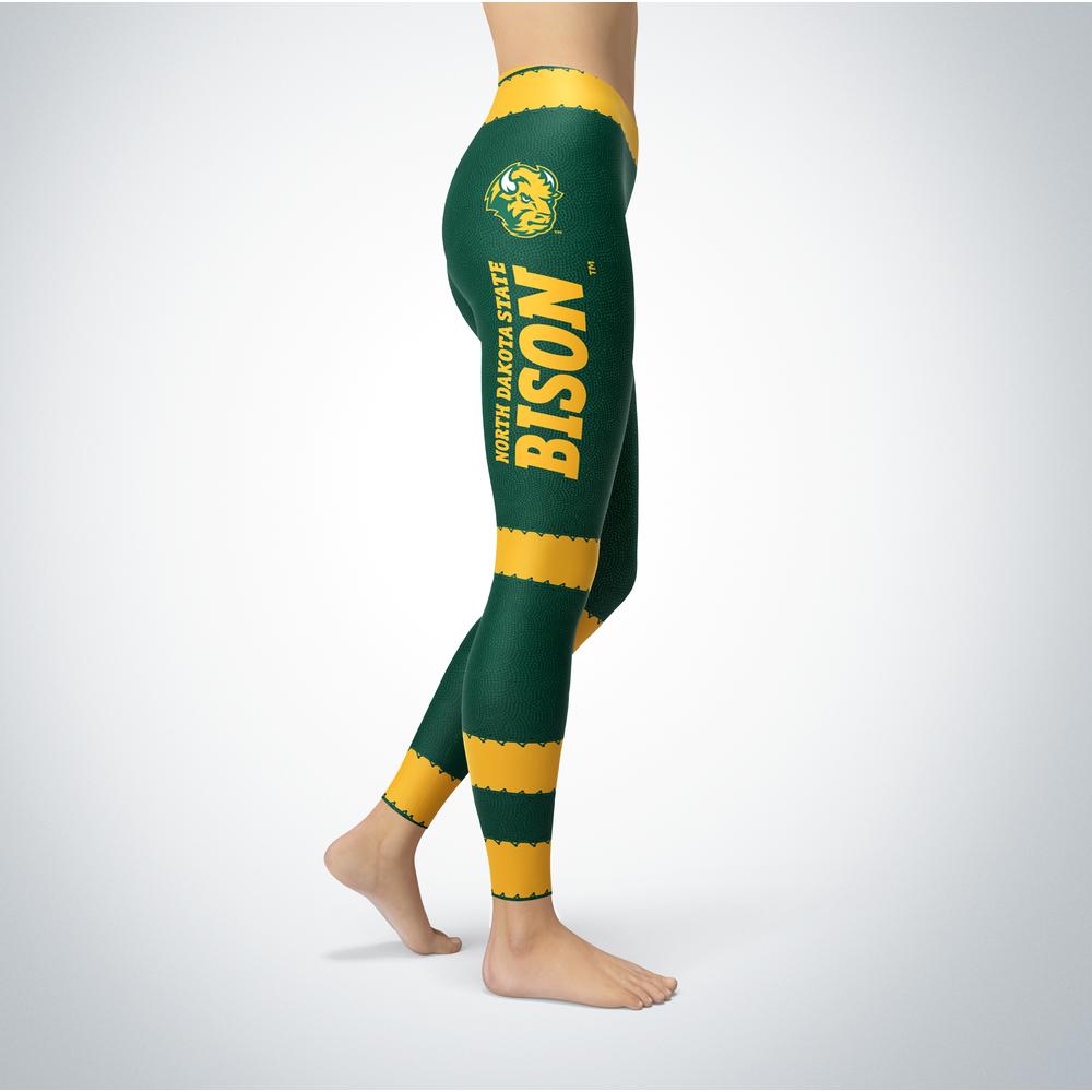 Football Design North Dakota State Bison Leggings Front picture