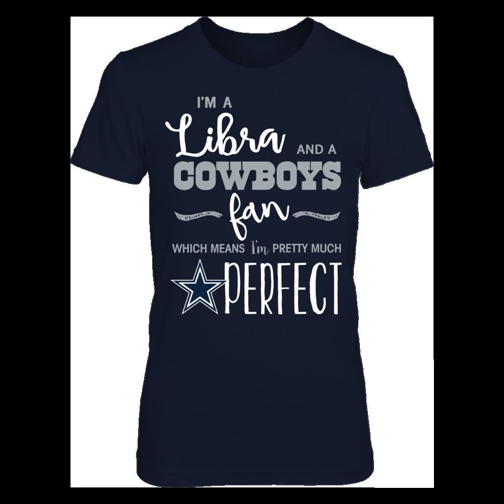 Perfect Libra Dallas Cowboys Fan T-Shirt | Tank Front picture