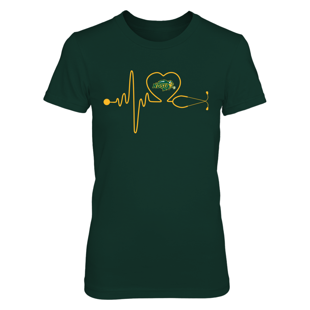 North Dakota State Bison - Stethoscope Heartbeat Front picture